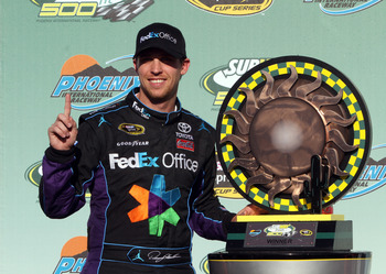 Hamlin found the way to Victory Lane on Sunday, and now leads the points standings