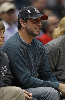 Rodgers at a Bucks game.