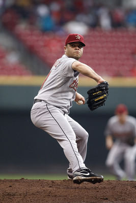 CINCINNATI, OH - SEPTEMBER 21:  Wandy Rodriguez #51 of the Houston Astros delivers the pitch during the game against the Cincinnati Reds on September 21, 2011 at Great American Ball Park in Cincinnati, Ohio.  (Photo by John Grieshop/Getty Images)