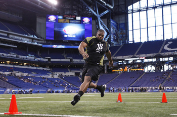 A strong Combine showing has probably solidified Cordy Glenn's status as a first round pick.