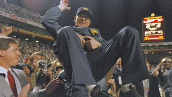 Lou Holtz led the Irish to their last national championship, in the 1989 Fiesta Bowl. AP Photo.