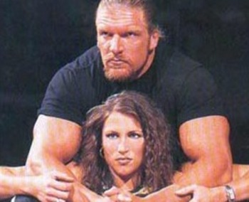Stephanie and HHH in 2000 (photo from onlineworldofwrestling.com)