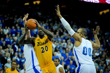 Long Beach State's T.J. Robinson has averaged a double-double in each of the past three seasons.