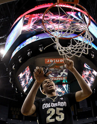 Colorado cut down the nets at the Pac-12 tournament to grab an automatic bid to the Dance.