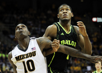 Perry Jones III fights for a rebound in Baylor's loss to Missouri.