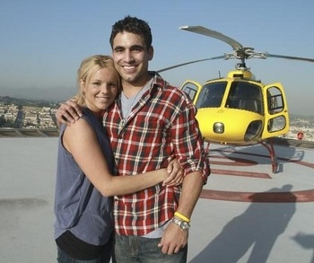 OMG A helicopter! This has never happened before on The Bachelor!