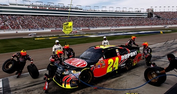 Jeff Gordon managed a 12th-place run, but his No. 24 car was not that good at Las Vegas