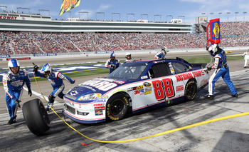 Dale Earnhardt Jr. had his best showing in a long time Sunday at Las Vegas
