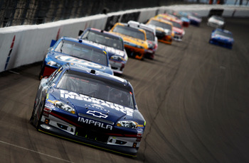 Kasey Kahne has a history of being quick on restarts, especially while leading