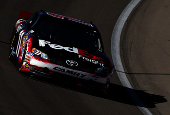 Denny Hamlin's restarts helped him earn a win at Phoenix