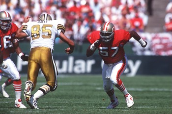 Rickey Jackson came to the 49ers from the Saints