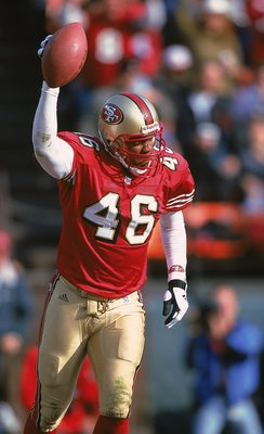 Tim McDonald played safety for the 49ers