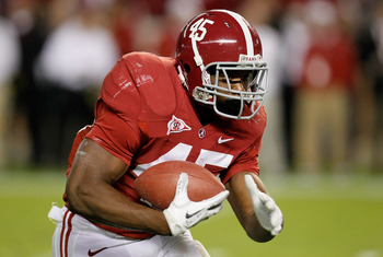 TUSCALOOSA, AL - OCTOBER 22:  Jalston Fowler #45 of the Alabama Crimson Tide against the Tennessee Volunteers at Bryant-Denny Stadium on October 22, 2011 in Tuscaloosa, Alabama.  (Photo by Kevin C. Cox/Getty Images)