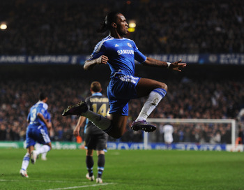 Didier Drogba has four goals in his last four UEFA CL games.