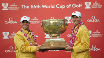 Woodland paired with Matt Kuchar to win the 2011 Omega World Cup of Golf