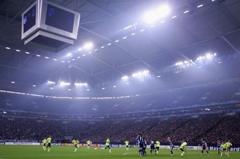 FC Schalke 04 is 10-1-2 at Veltins-Arena.