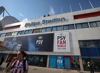 PSV Eindhoven is 10-1-1 at Philps Stadion in Eredivisie play.