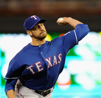 Michael Kirkman is one of several candidates hoping to claim an opening day spot in the Rangers' pen.
