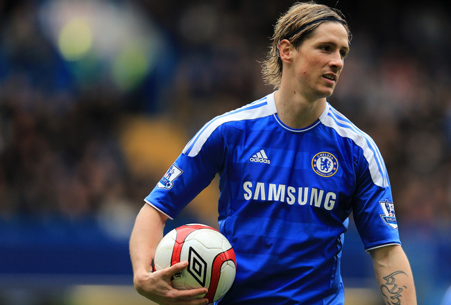 LONDON, ENGLAND - MARCH 18:  Fernando Torres of Chelsea looks on during the FA Cup sixth round match between Chelsea and Leicester City at Stamford Bridge on March 18, 2012 in London, England.  (Photo by Richard Heathcote/Getty Images)