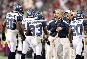 Pete Carroll and Pro Bowl fullback Michael Robinson