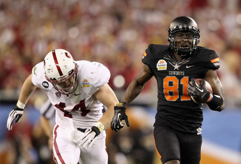 Justin Blackmon electrified the 2012 Fiesta Bowl audience.