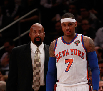 Mike Woodson has installed an offense that revolves around Carmelo Anthony.