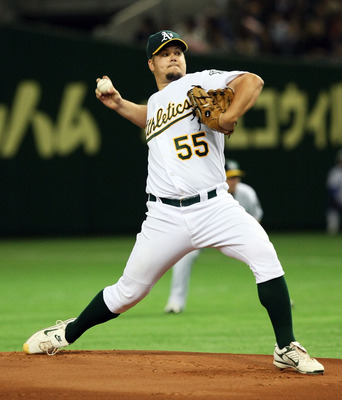 Blanton pitched  230 innings for Oakland in 2007,  and led the AL with 34 starts.
