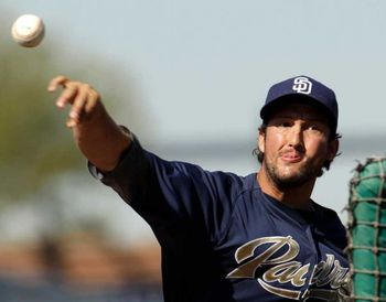 Huston Street at spring training in Peoria, AZ. Photo: Charlie Riedel / AP