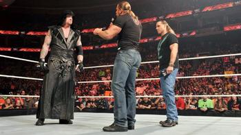 Undertaker, Triple H and Shawn Michaels, photo copyright to WWE.com