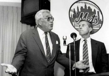Owner Fred Wilpon, right, with Nelson Doubleday, came on in 1980.