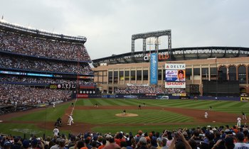The nearly completed CitiField loomed in the background as the Mets played their final games at Shea Stadium.