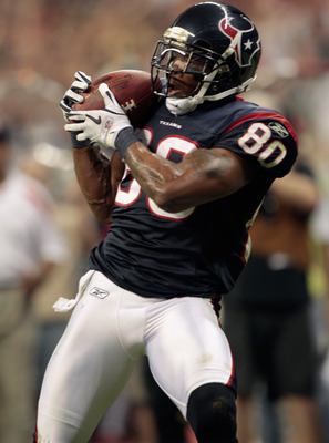 Andre Johnson played in his first playoff games this season.