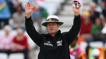 Under my watchful eye: Simon Taufel, senior umpire for the tournament