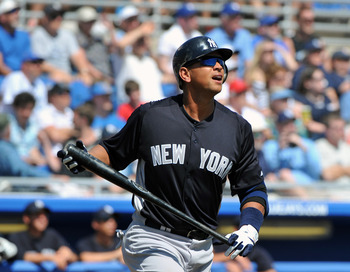 Prodigious power will be the hallmark of Alex Rodriguez's career.
