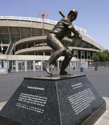George Brett's legacy is honored by a statue outside Kaufman Stadium in Kansas City.