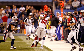The Giants have two great receivers in Hakeem Nicks and Victor Cruz, however it was Mario Manningham that made the most critical play of Super Bowl XLVI.