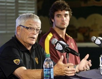Brock won't admit it, but the firing of coach Dennis Erickson was devastating.  AP