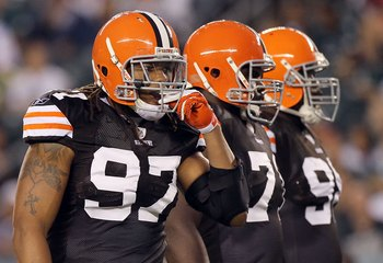 Strong up front: Jabaal Sheard, Ahtyba Rubin and Phil Taylor.