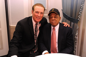 Rick Barry and Willie Mays