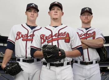 The Braves' hard-throwing bullpen trio.