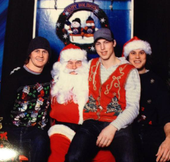 Jones, right with Santa and RNH