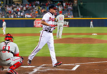 Chipper Jones gave the Braves an early lead in a must-win game against the Phillies.