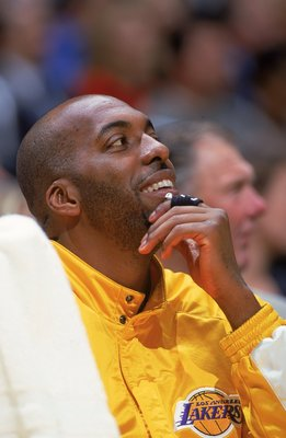 Salley clearly enjoyed watching Shaq and Kobe win him his fourth ring from the bench.