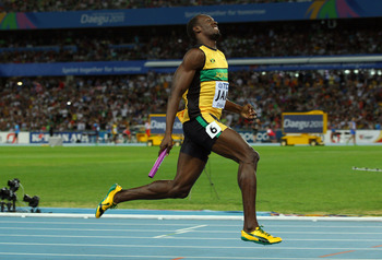 Jamaican sprinter Usain Bolt owns the world record in both the 100- and 200-meter dashes.