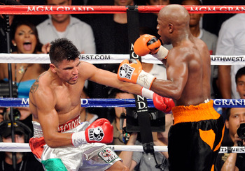 Floyd Mayweather has Miguel Cotto next up in his sites after disposing of Victor Ortiz here in his last bout.