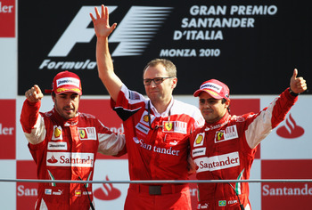 Massa Celebrating With Ferrari