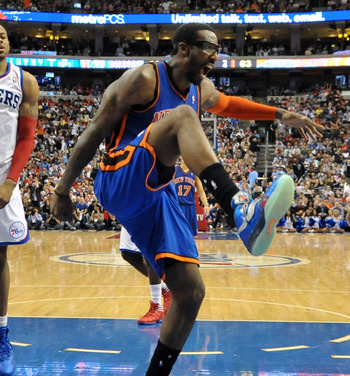 Amar'e Stoudemire and the Knicks were high stepping in Philadelphia.