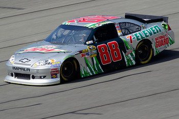 Dale Earnhardt Jr. had a solid Top 5 car at Fontana