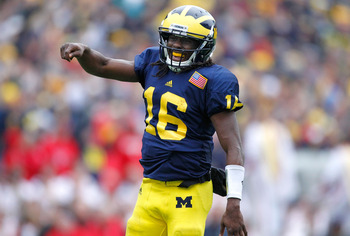 Denard Robinson is hungry for a victory over Alabama