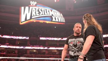 Will Triple H have to worry about Mr.WrestleMania as well?